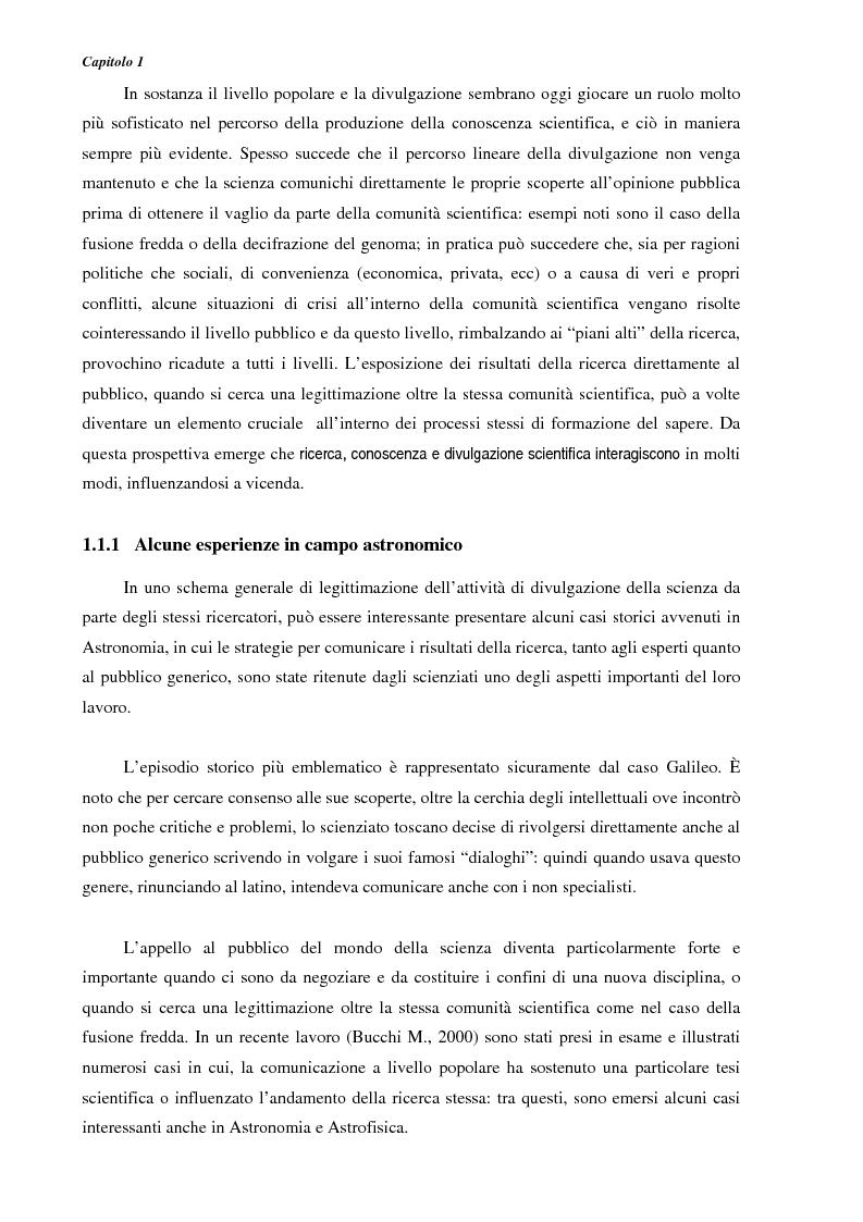 Anteprima della tesi: Ideazione e parziale realizzazione di un progetto di divulgazione dell'astrofisica per i comunicatori, Pagina 10
