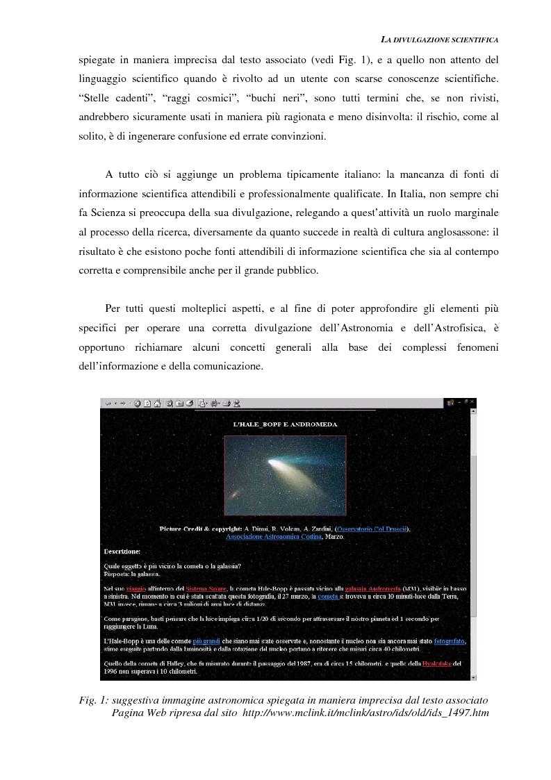 Anteprima della tesi: Ideazione e parziale realizzazione di un progetto di divulgazione dell'astrofisica per i comunicatori, Pagina 5