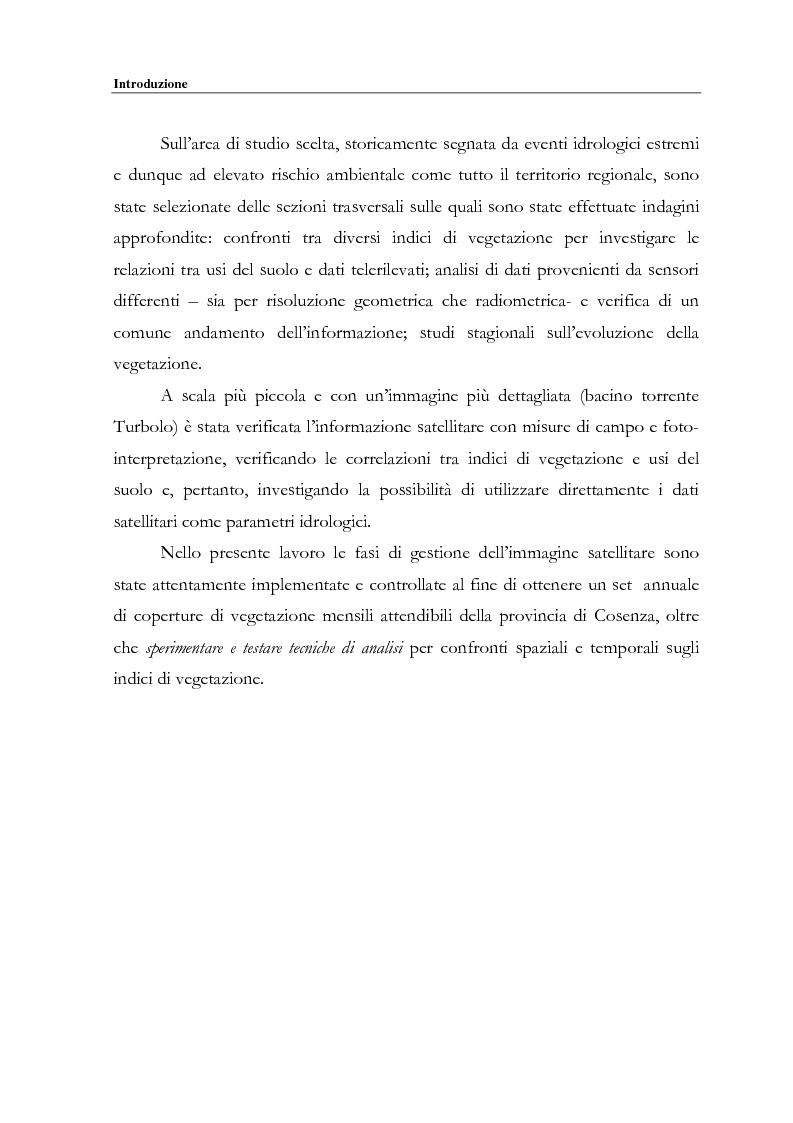 Anteprima della tesi: Evoluzione spazio temporale della copertura vegetale attraverso tecniche di telerilevamento satellitare, Pagina 3