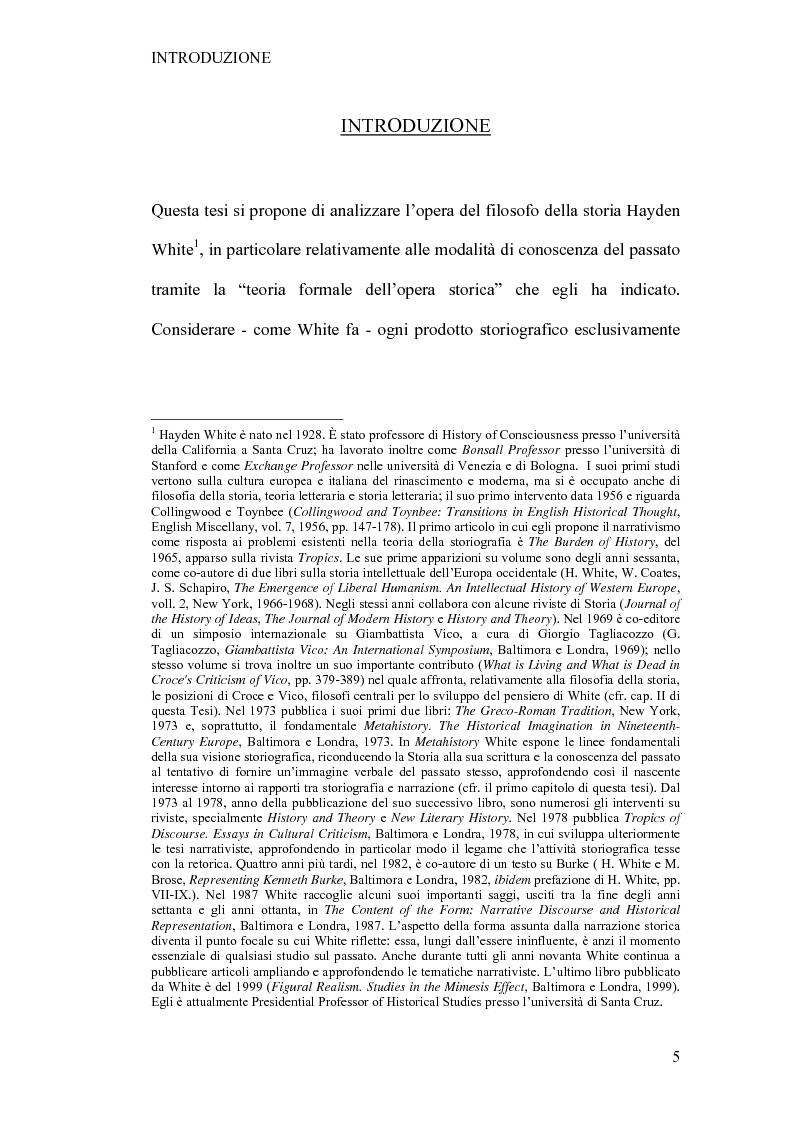 Anteprima della tesi: Tra retorica e storia: la metahistory di Hayden White, Pagina 1