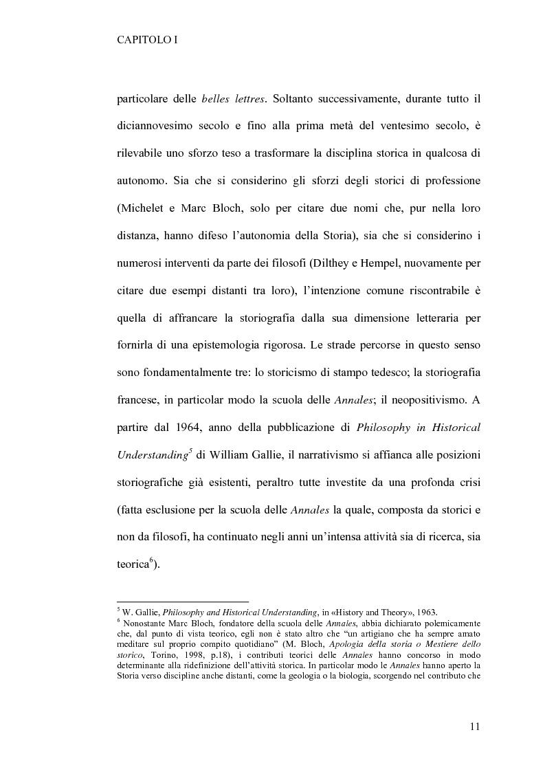 Anteprima della tesi: Tra retorica e storia: la metahistory di Hayden White, Pagina 7