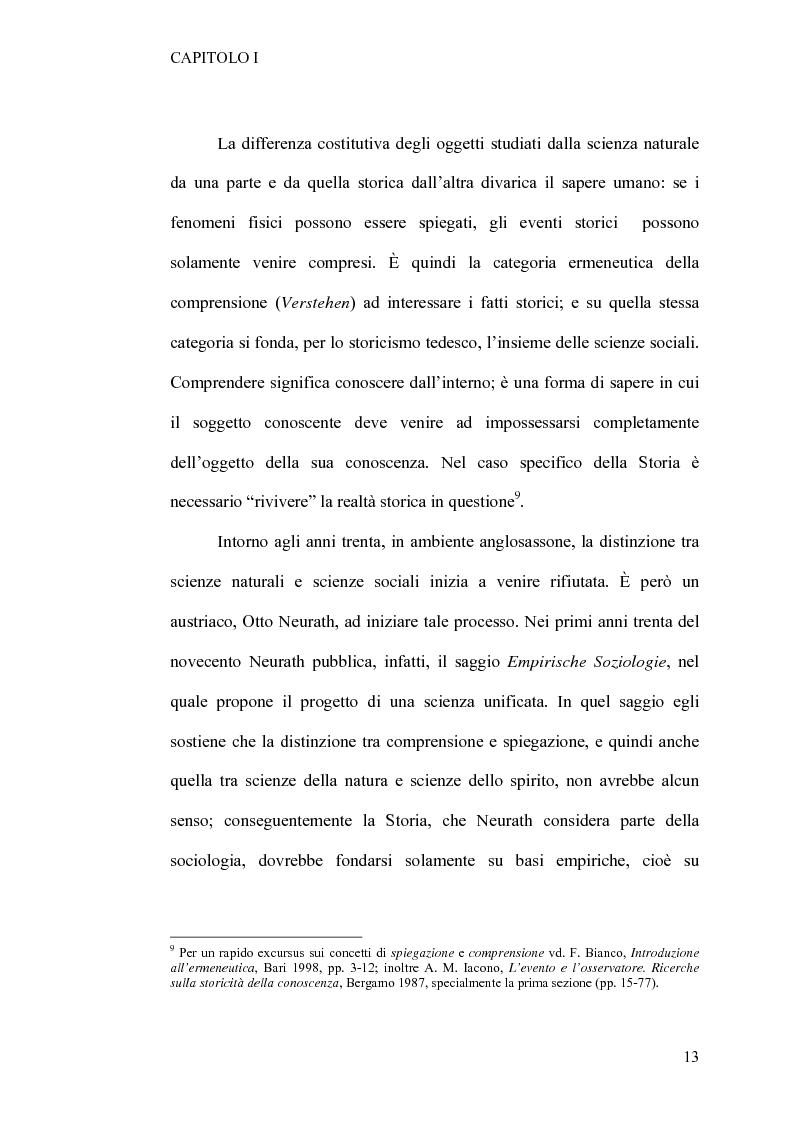 Anteprima della tesi: Tra retorica e storia: la metahistory di Hayden White, Pagina 9