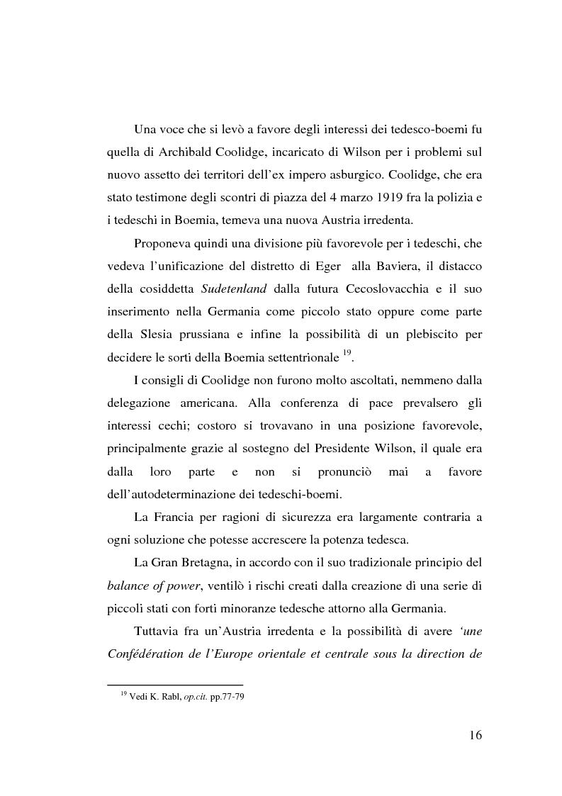 Anteprima della tesi: La minoranza tedesca in Cecoslovacchia e i suoi rapporti con la Germania nazista (1933-1939), Pagina 12