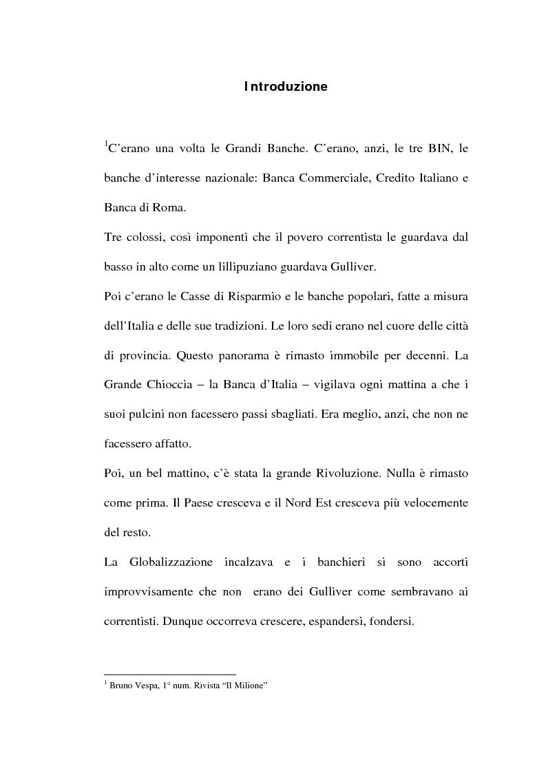 Anteprima della tesi: Banche in movimento, la comunicazione di Veneto Banca, Pagina 1