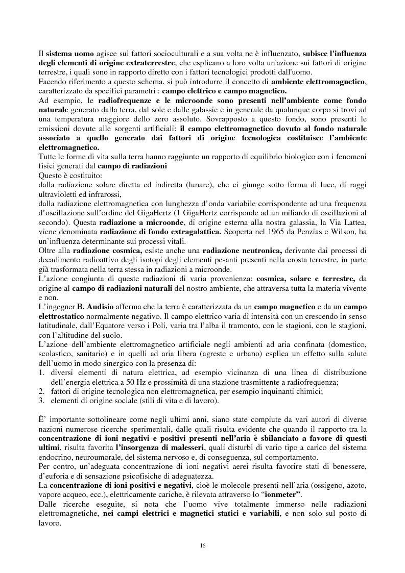 Anteprima della tesi: Inquinamento elettromagnetico quotidiano a frequenza industriale (50-60 Hz) in ambienti confinati. Possibili soluzioni, Pagina 3