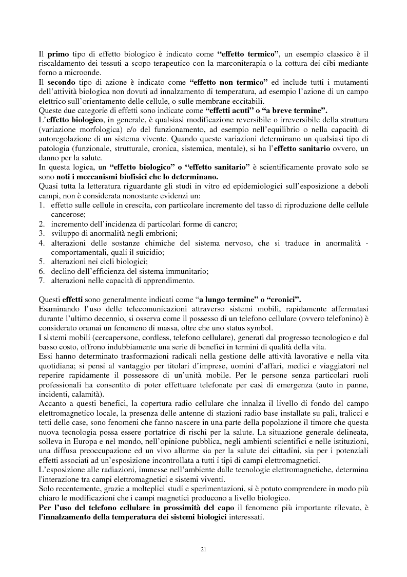 Anteprima della tesi: Inquinamento elettromagnetico quotidiano a frequenza industriale (50-60 Hz) in ambienti confinati. Possibili soluzioni, Pagina 8