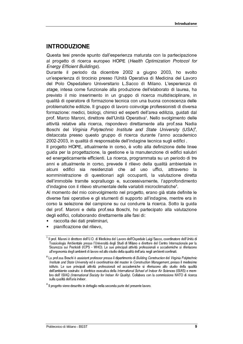 Anteprima della tesi: Dalla checklist al sistema informativo: strumenti di rilievo e metodi di valutazione della qualità negli ambienti di vita e di lavoro, Pagina 1