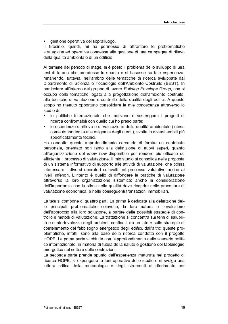 Anteprima della tesi: Dalla checklist al sistema informativo: strumenti di rilievo e metodi di valutazione della qualità negli ambienti di vita e di lavoro, Pagina 2