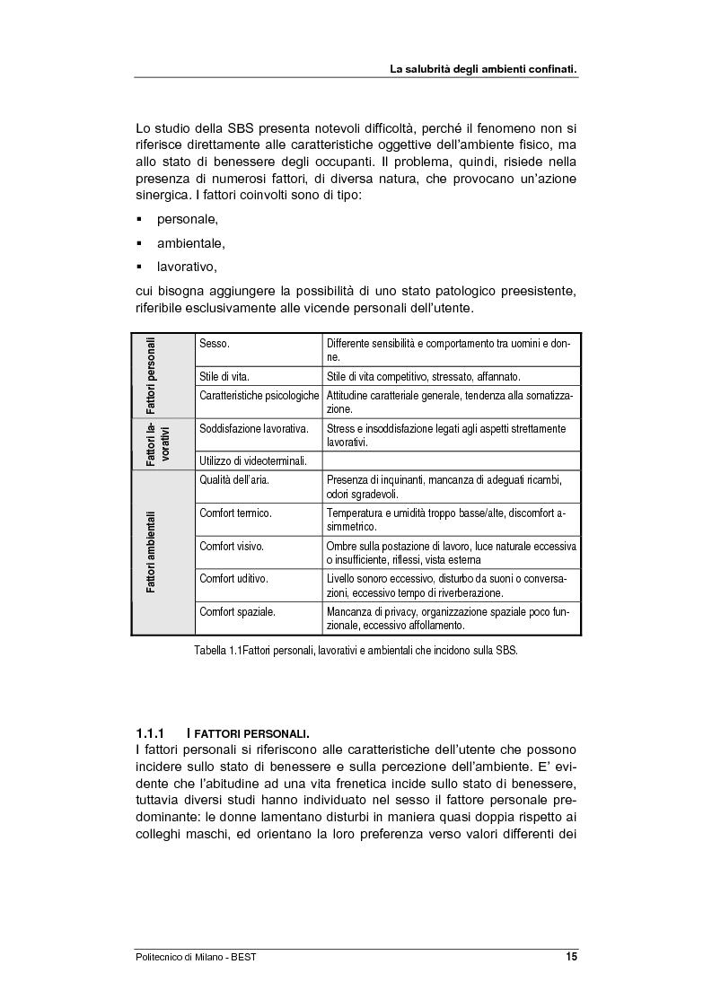 Anteprima della tesi: Dalla checklist al sistema informativo: strumenti di rilievo e metodi di valutazione della qualità negli ambienti di vita e di lavoro, Pagina 7