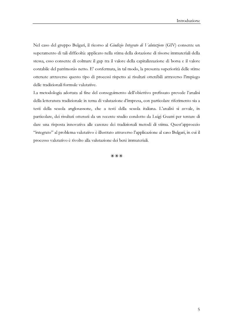 Anteprima della tesi: La determinazione del valore delle imprese: dai metodi tradizionali a quelli più innovativi, Pagina 5