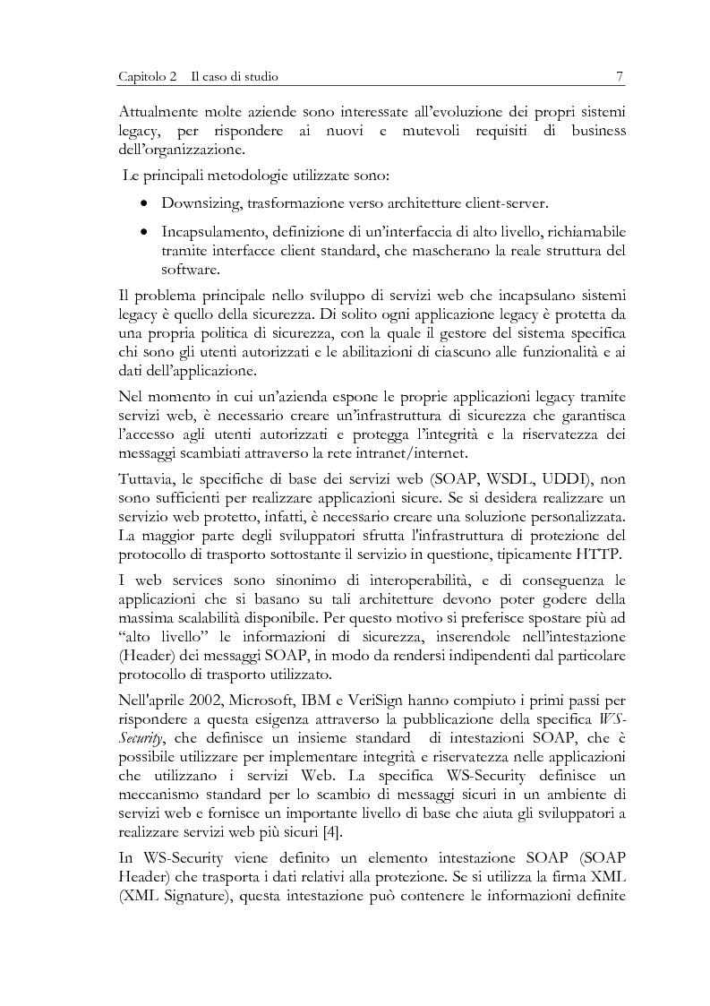 Anteprima della tesi: Aspetti di sicurezza dei web services, Pagina 3
