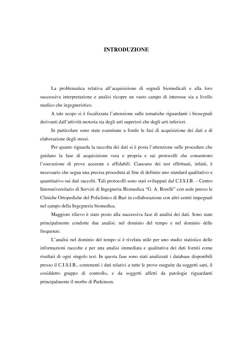 Anteprima della tesi: Valutazione di segnali posturografici: analisi nei domini del tempo e delle frequenze, Pagina 1