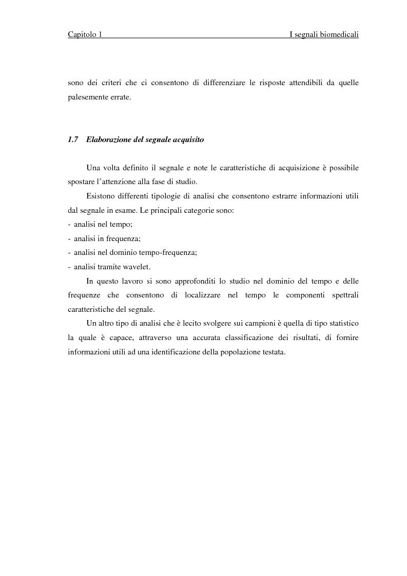 Anteprima della tesi: Valutazione di segnali posturografici: analisi nei domini del tempo e delle frequenze, Pagina 12