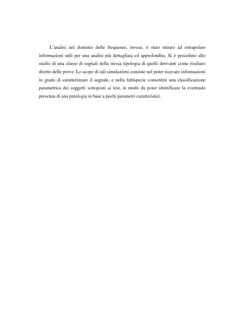 Anteprima della tesi: Valutazione di segnali posturografici: analisi nei domini del tempo e delle frequenze, Pagina 2