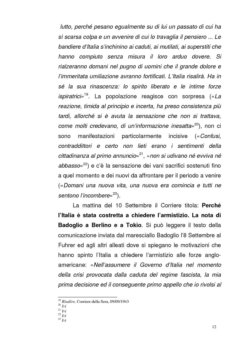 Anteprima della tesi: La Repubblica di Salò attraverso le pagine del Corriere della Sera: gli eventi, le cronache, i commenti, Pagina 11