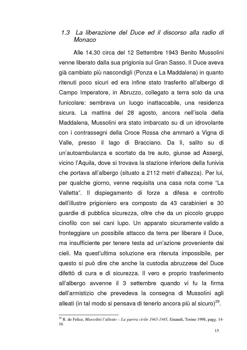 Anteprima della tesi: La Repubblica di Salò attraverso le pagine del Corriere della Sera: gli eventi, le cronache, i commenti, Pagina 14