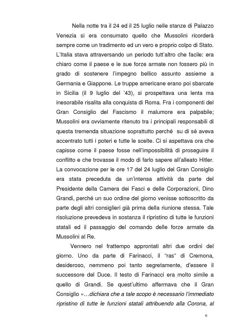 Anteprima della tesi: La Repubblica di Salò attraverso le pagine del Corriere della Sera: gli eventi, le cronache, i commenti, Pagina 5