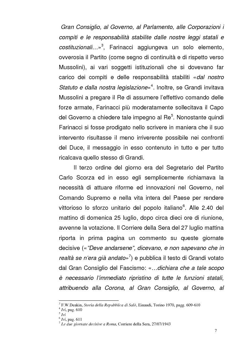 Anteprima della tesi: La Repubblica di Salò attraverso le pagine del Corriere della Sera: gli eventi, le cronache, i commenti, Pagina 6