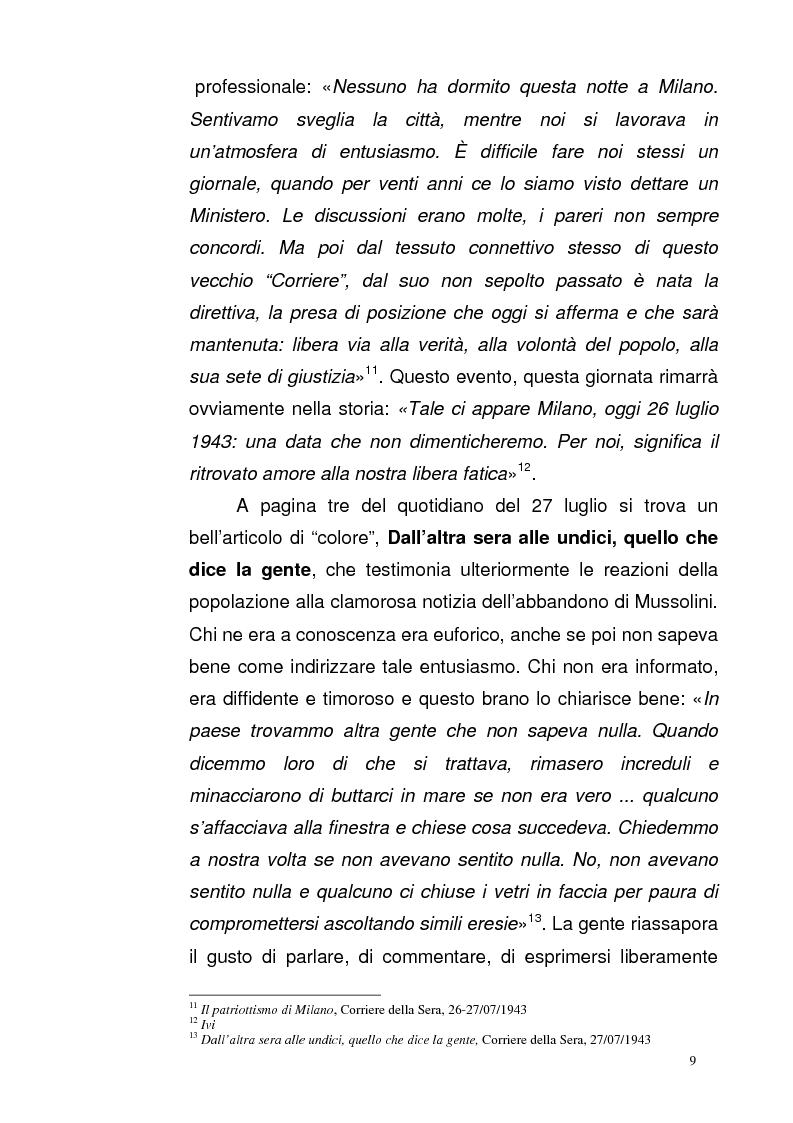 Anteprima della tesi: La Repubblica di Salò attraverso le pagine del Corriere della Sera: gli eventi, le cronache, i commenti, Pagina 8