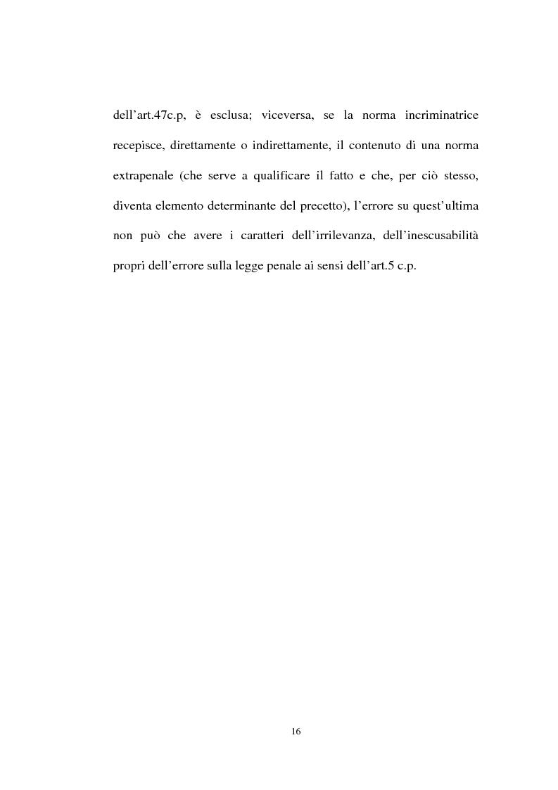 Anteprima della tesi: Ignorantia legis scusabile ed inescusabile. Orientamenti dottrinari e giurisprudenziali con particolare riferimento al settore ambientale, Pagina 13