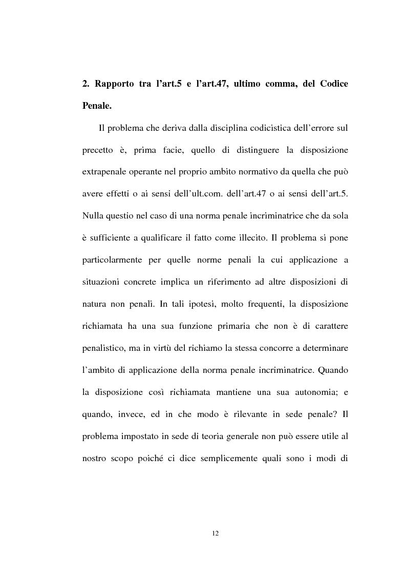 Anteprima della tesi: Ignorantia legis scusabile ed inescusabile. Orientamenti dottrinari e giurisprudenziali con particolare riferimento al settore ambientale, Pagina 9
