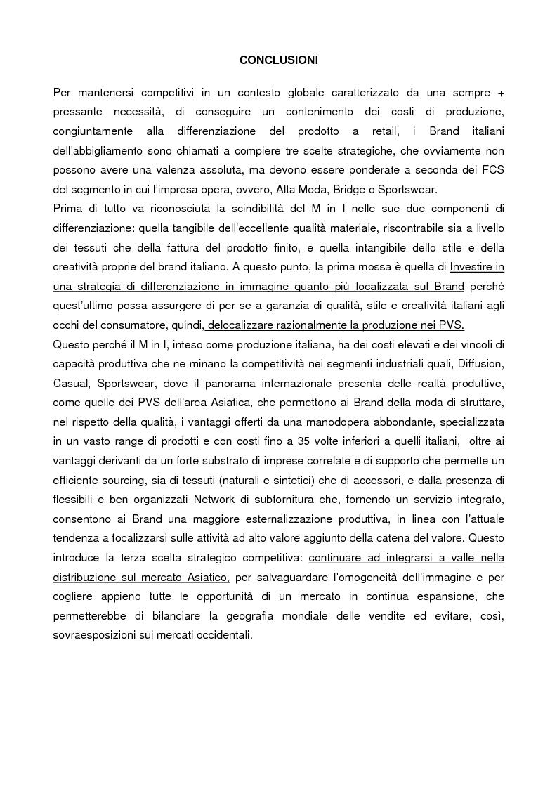 Anteprima della tesi: Internazionalizzazione e delocalizzazione globale nel settore abbigliamento: le opportunità in Asia, Pagina 11
