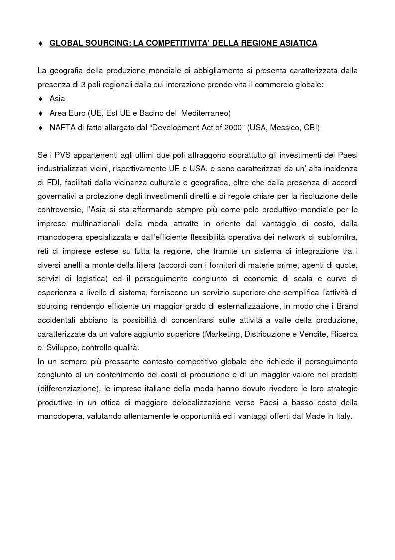 Anteprima della tesi: Internazionalizzazione e delocalizzazione globale nel settore abbigliamento: le opportunità in Asia, Pagina 5