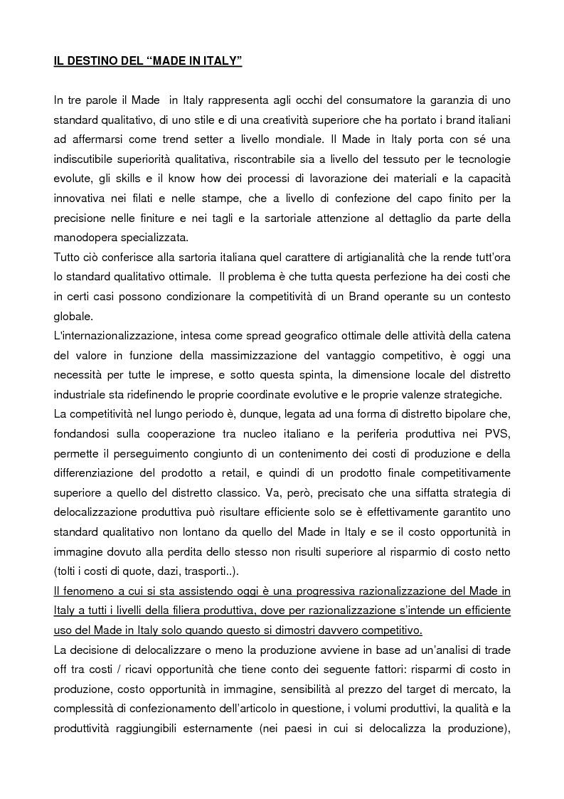 Anteprima della tesi: Internazionalizzazione e delocalizzazione globale nel settore abbigliamento: le opportunità in Asia, Pagina 6
