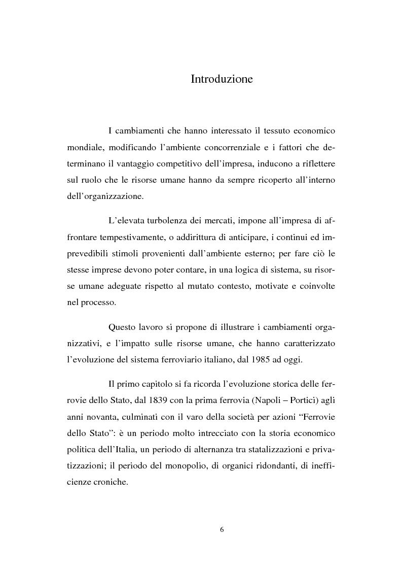 Anteprima della tesi: Evoluzione strategico organizzativa del Gruppo Ferrovie dello Stato S.p.A., Pagina 1