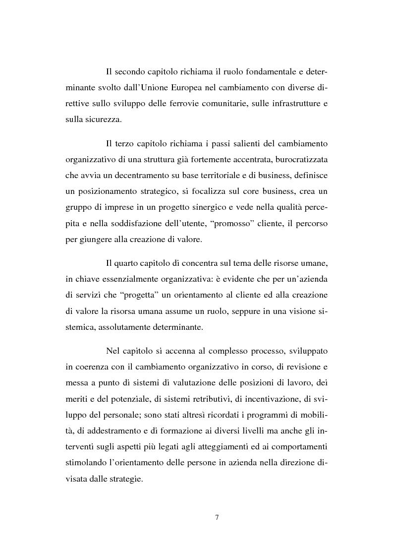 Anteprima della tesi: Evoluzione strategico organizzativa del Gruppo Ferrovie dello Stato S.p.A., Pagina 2
