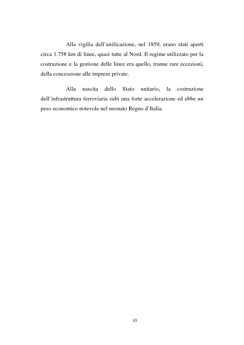 Anteprima della tesi: Evoluzione strategico organizzativa del Gruppo Ferrovie dello Stato S.p.A., Pagina 5