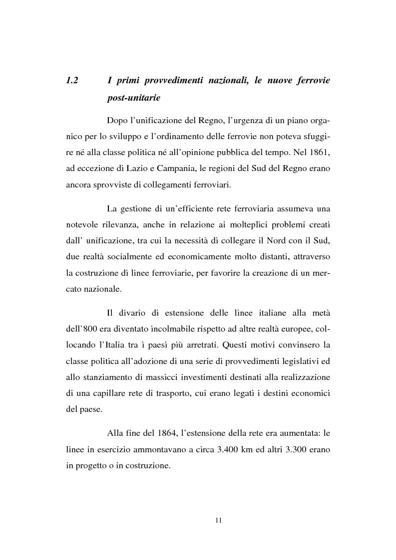Anteprima della tesi: Evoluzione strategico organizzativa del Gruppo Ferrovie dello Stato S.p.A., Pagina 6