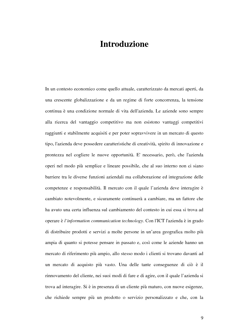 Anteprima della tesi: Prime evidenze sulle interrelazioni tra sistemi Erp e Crm, Pagina 1