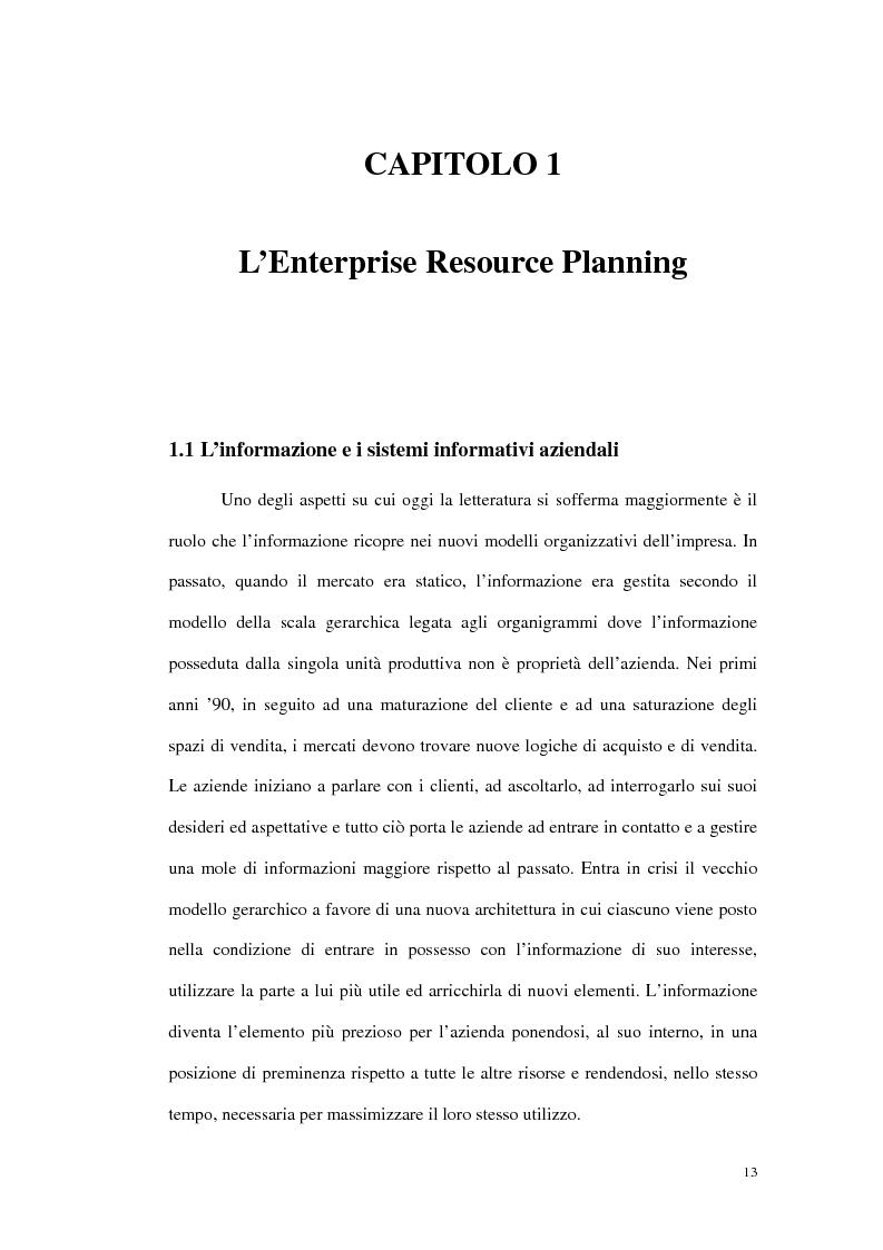 Anteprima della tesi: Prime evidenze sulle interrelazioni tra sistemi Erp e Crm, Pagina 5