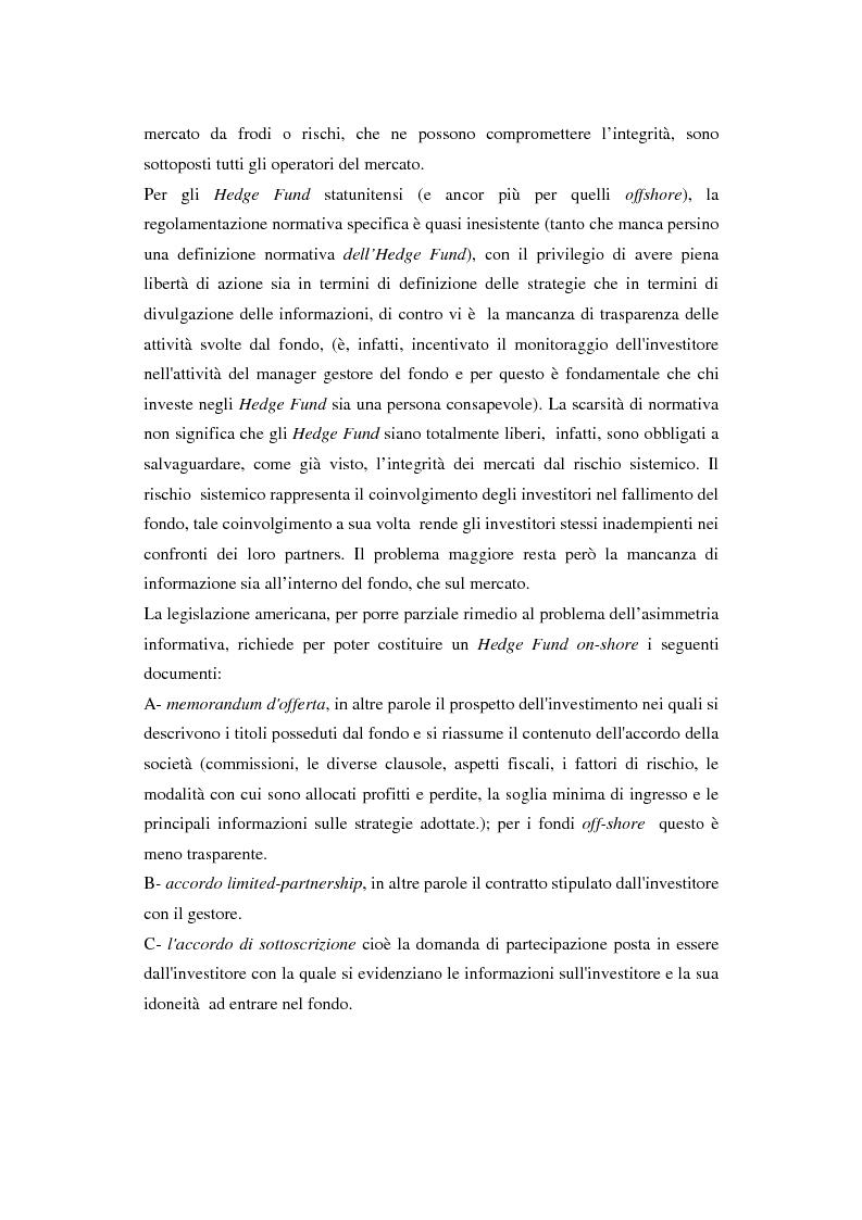 Anteprima della tesi: Hedge fund: profili peculiari di un investimento alternativo, Pagina 12