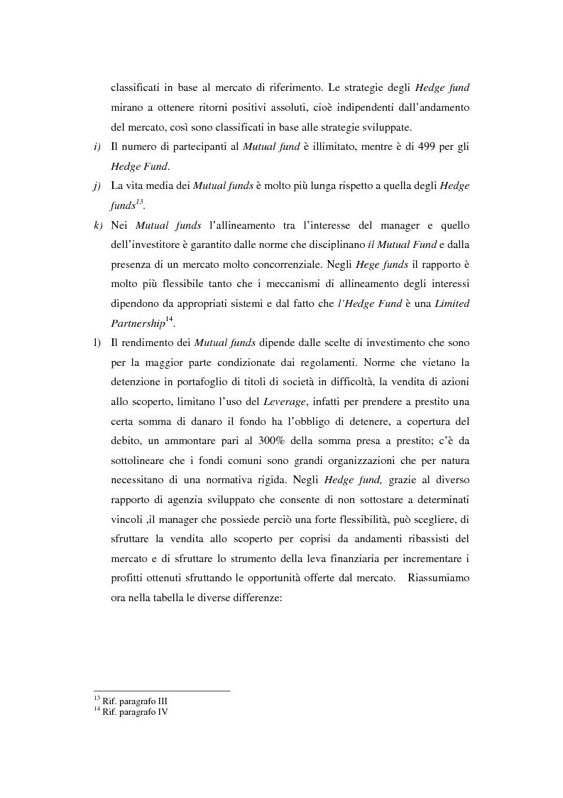 Anteprima della tesi: Hedge fund: profili peculiari di un investimento alternativo, Pagina 15