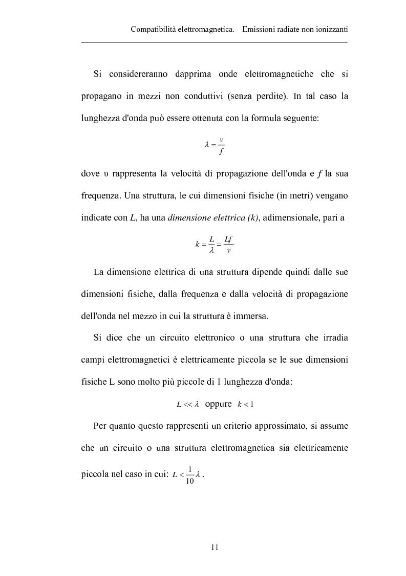 Anteprima della tesi: Prove sperimentali di emissioni di campo elettromagnetico prodotto da apparecchi illuminanti con lampade fluorescenti. Andamento del campo, Pagina 11
