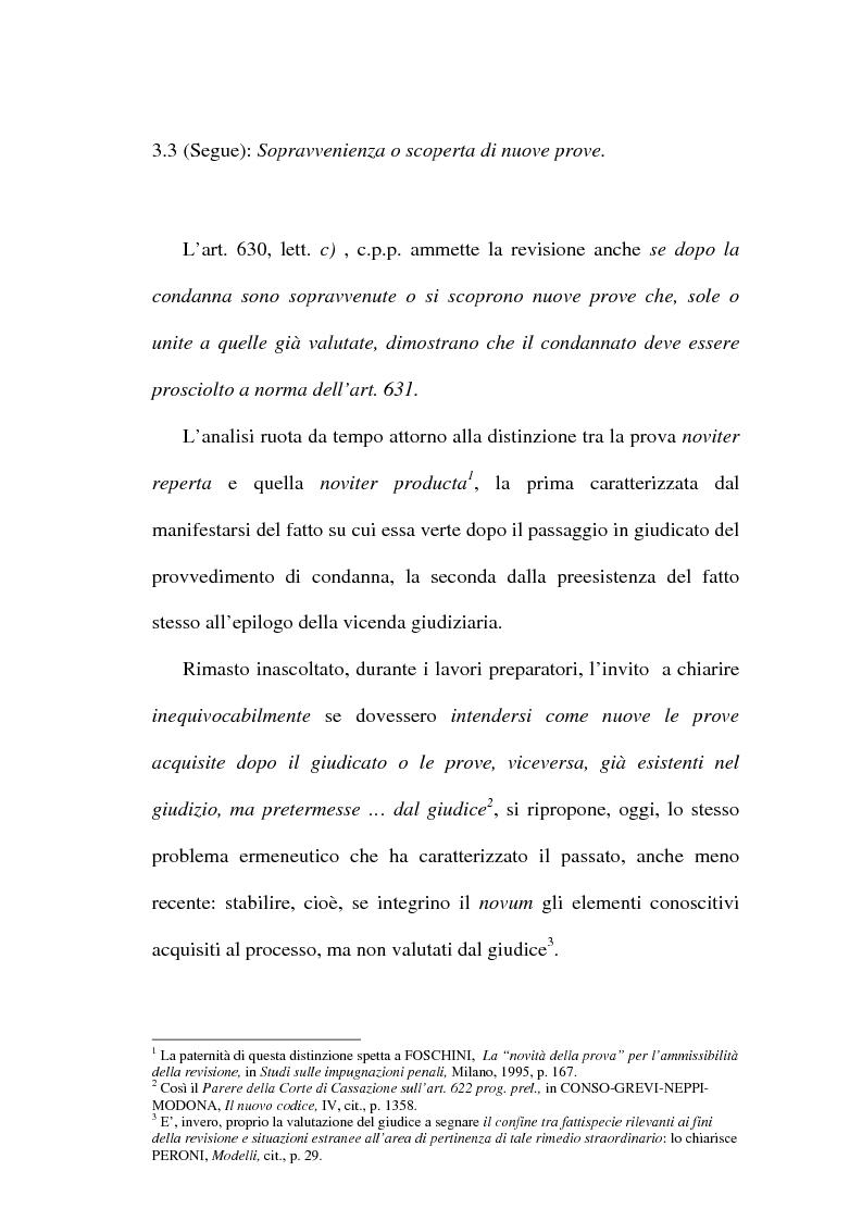 Anteprima della tesi: Il concetto di ''nuove prove'' ai fini della revisione, Pagina 11