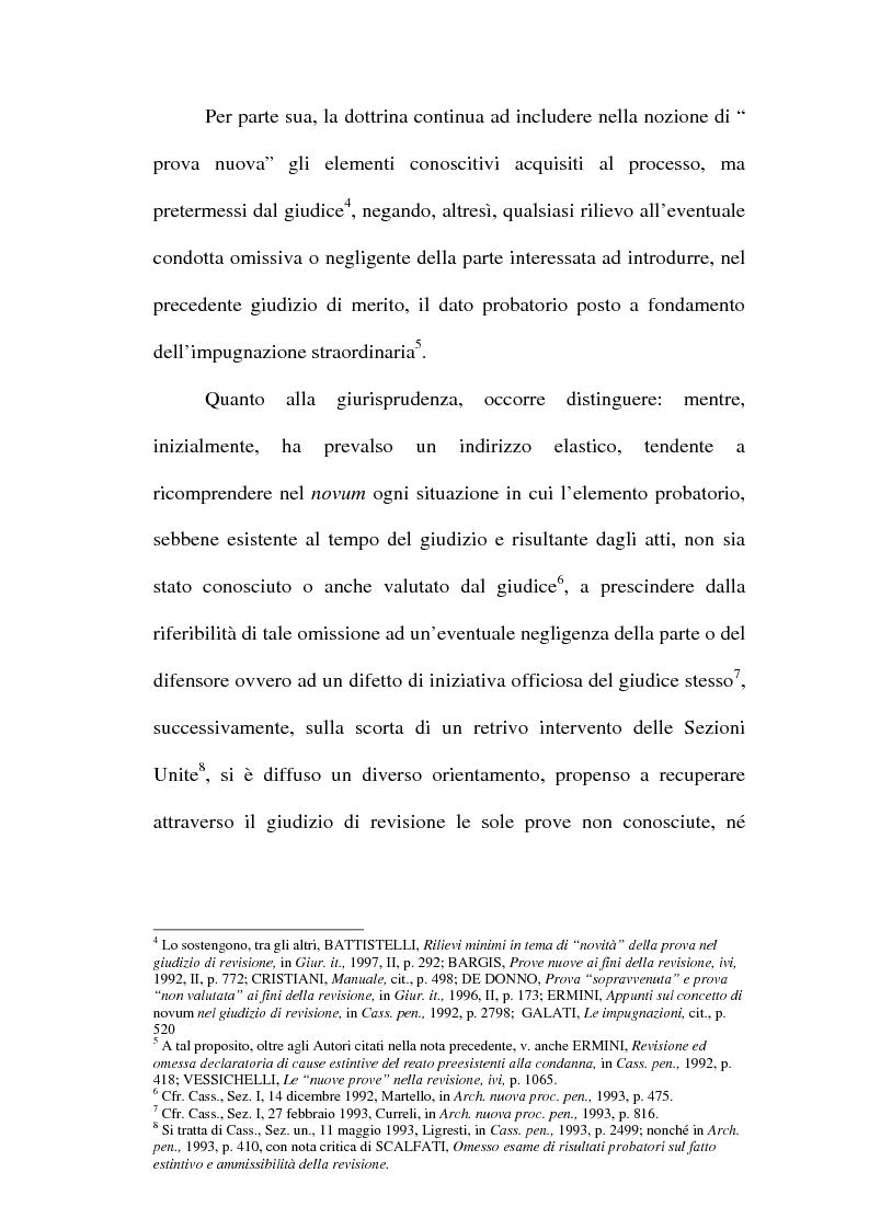 Anteprima della tesi: Il concetto di ''nuove prove'' ai fini della revisione, Pagina 12