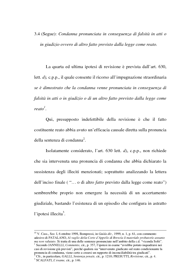 Anteprima della tesi: Il concetto di ''nuove prove'' ai fini della revisione, Pagina 14