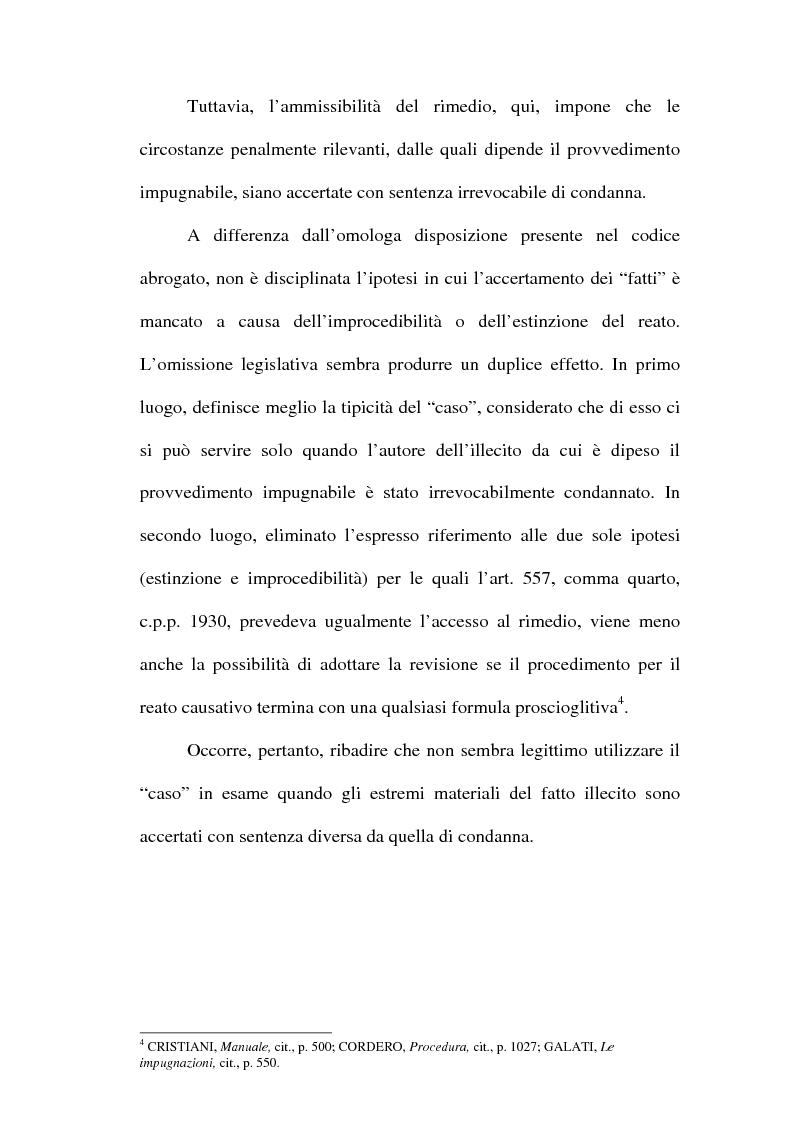 Anteprima della tesi: Il concetto di ''nuove prove'' ai fini della revisione, Pagina 15