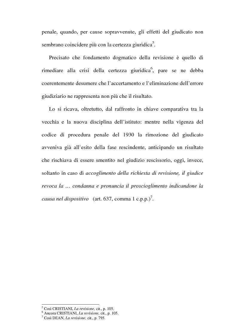 Anteprima della tesi: Il concetto di ''nuove prove'' ai fini della revisione, Pagina 3