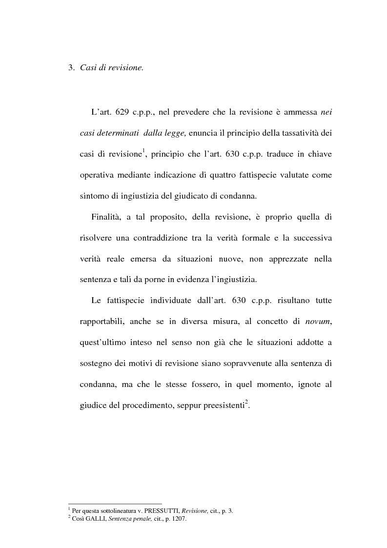 Anteprima della tesi: Il concetto di ''nuove prove'' ai fini della revisione, Pagina 6