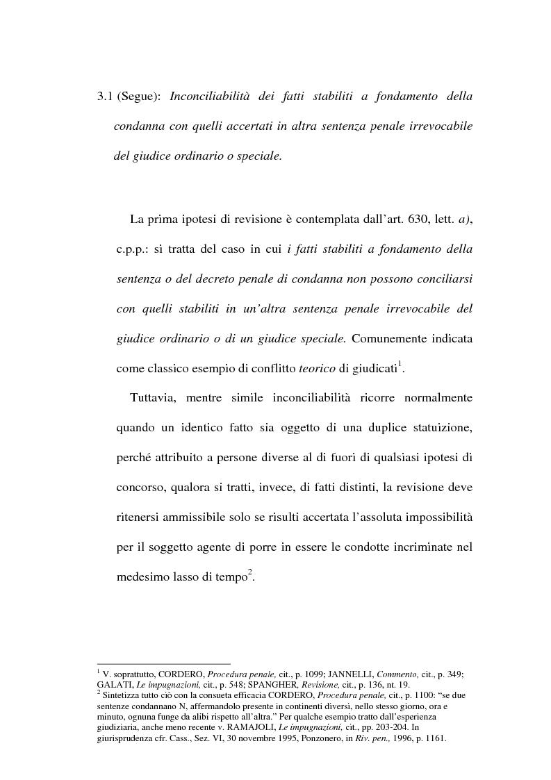 Anteprima della tesi: Il concetto di ''nuove prove'' ai fini della revisione, Pagina 7