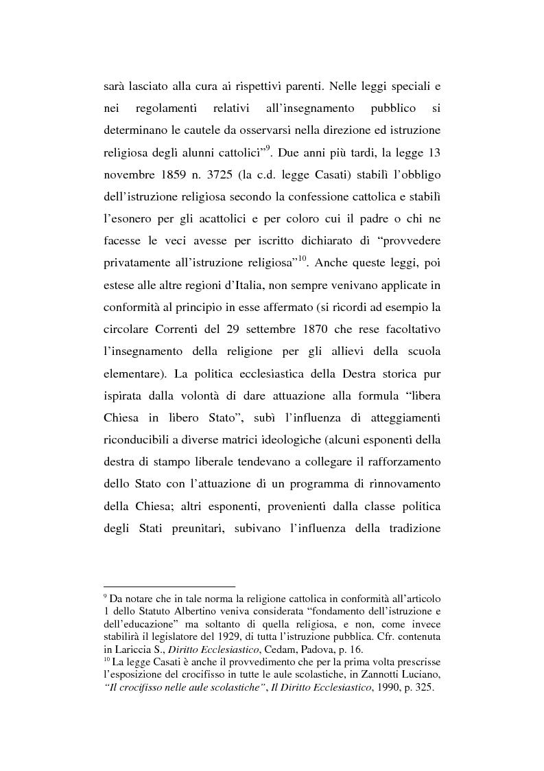 Anteprima della tesi: La presenza del crocifisso nei luoghi pubblici, Pagina 12