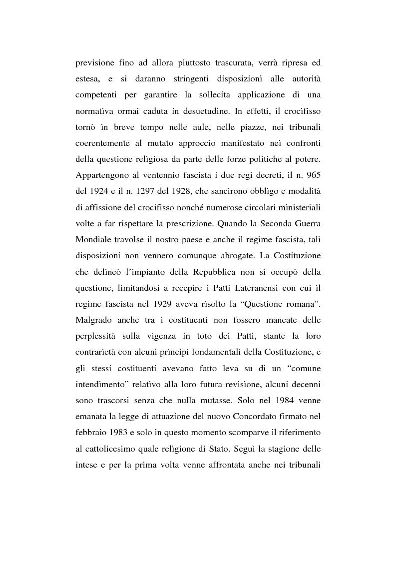 Anteprima della tesi: La presenza del crocifisso nei luoghi pubblici, Pagina 2