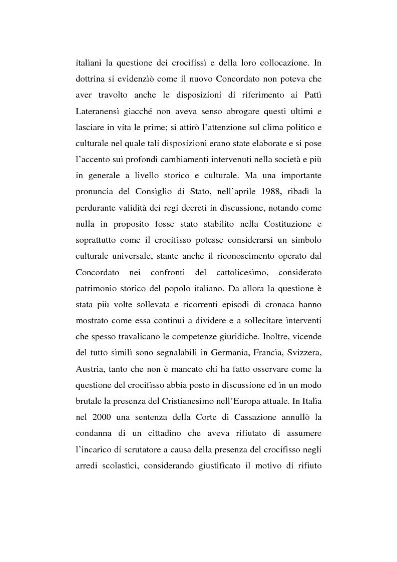 Anteprima della tesi: La presenza del crocifisso nei luoghi pubblici, Pagina 3