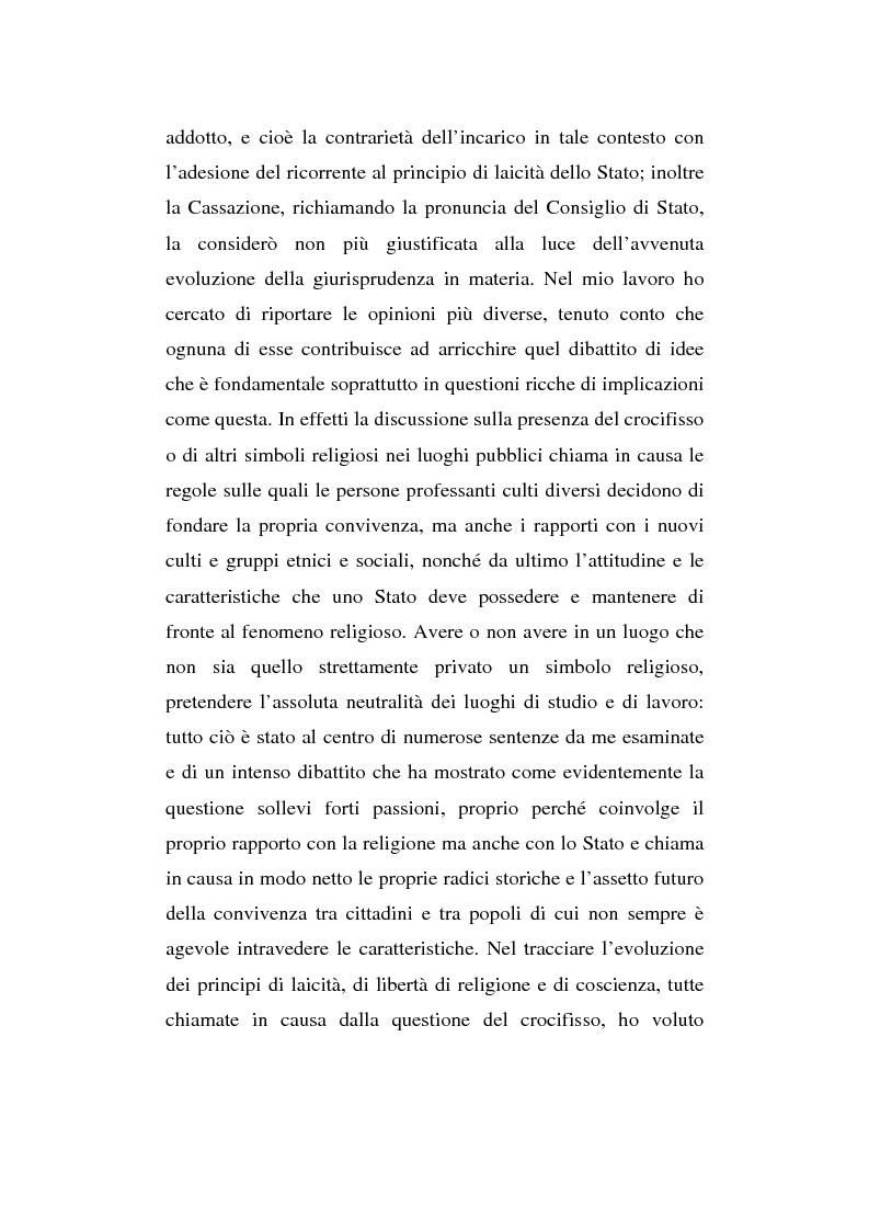 Anteprima della tesi: La presenza del crocifisso nei luoghi pubblici, Pagina 4