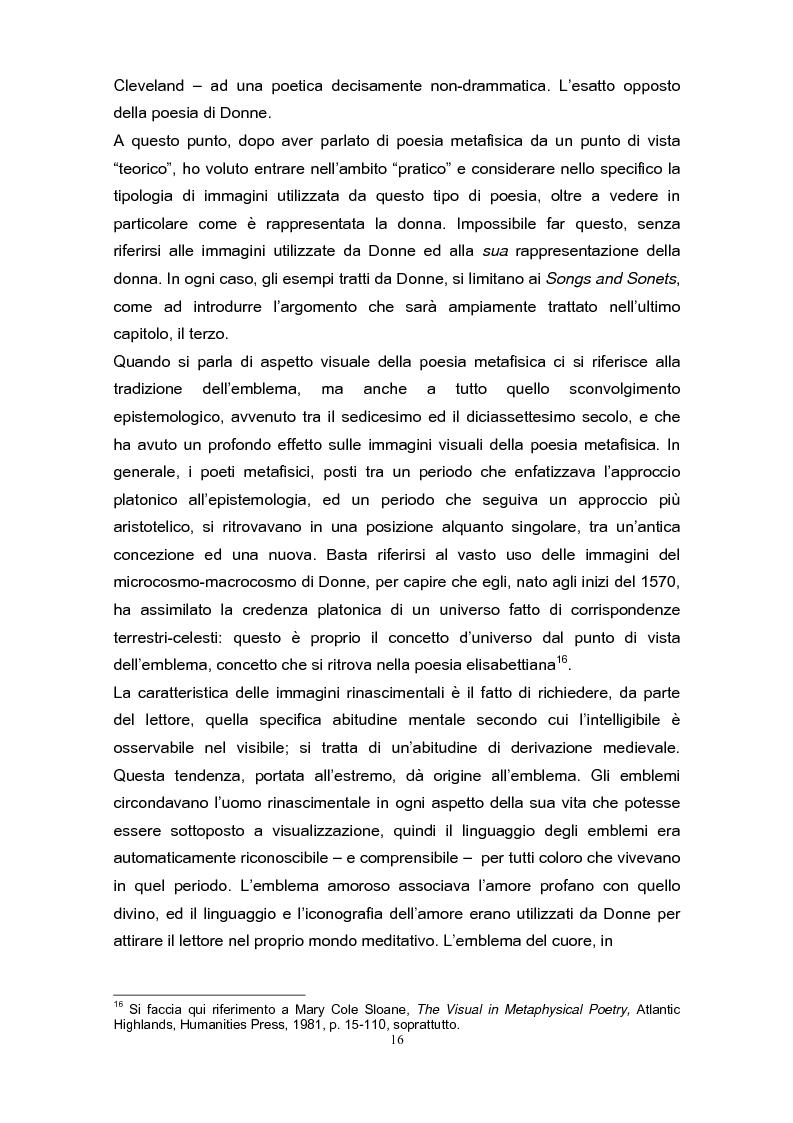 Anteprima della tesi: La poetica di John Donne (1572-1631) nei Songs and Sonets, Pagina 13