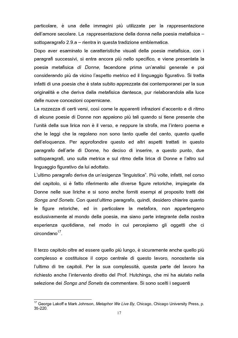 Anteprima della tesi: La poetica di John Donne (1572-1631) nei Songs and Sonets, Pagina 14